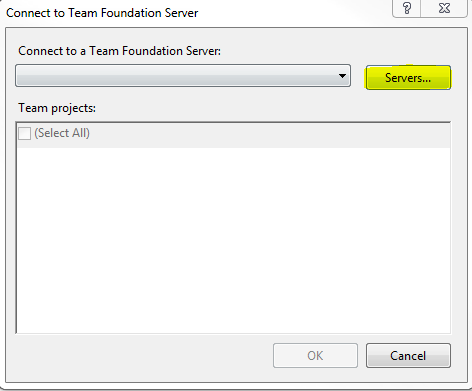 TF31002 : Unable to connect to this Team Foundation Server