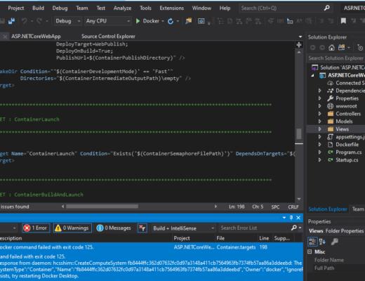 ASP.NETCore3.1_Docker Error Code 125